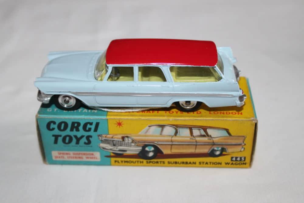Corgi Toys 445 Plymouth Sports Suburban Station Wagon