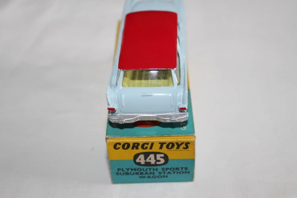 Corgi Toys 445 Plymouth Sports Suburban Station Wagon-back