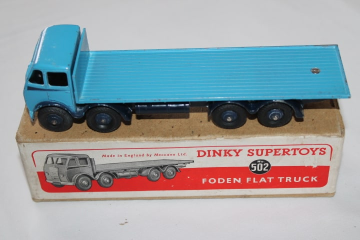 Dinky Toys 502 1st Cab Foden Flat truck