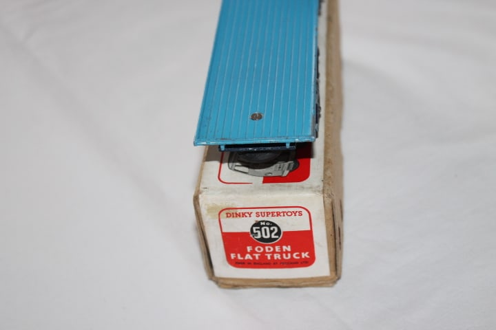 Dinky Toys 502 1st Cab Foden Flat truck-back