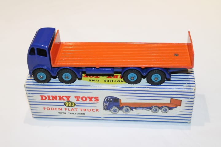 Dinky Toys 903/503 2nd Cab Foden Flat truck with Tailboard