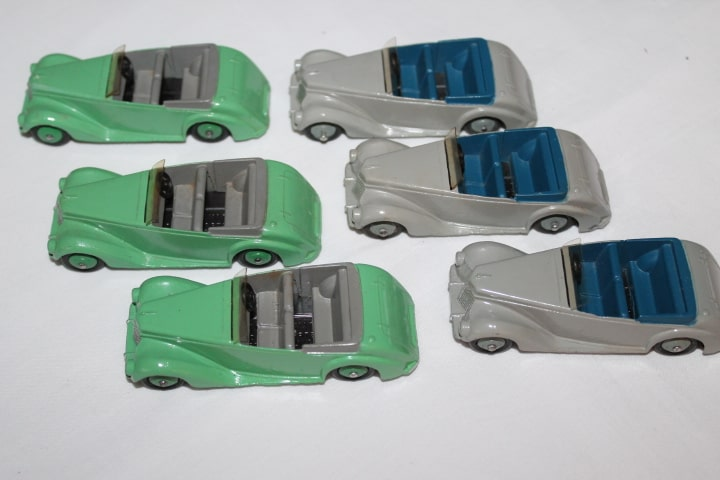 Dinky Toys 036E Armstrong Siddeley Trade Box of Six-left sides