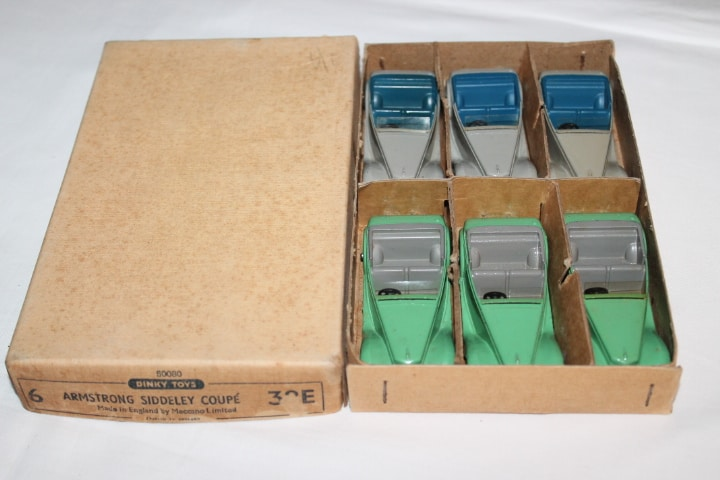Dinky Toys 036E Armstrong Siddeley Trade Box of Six
