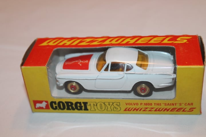 Corgi Toys 201 Volvo P.1800 The 'Saint's Car-Red Spot wheels