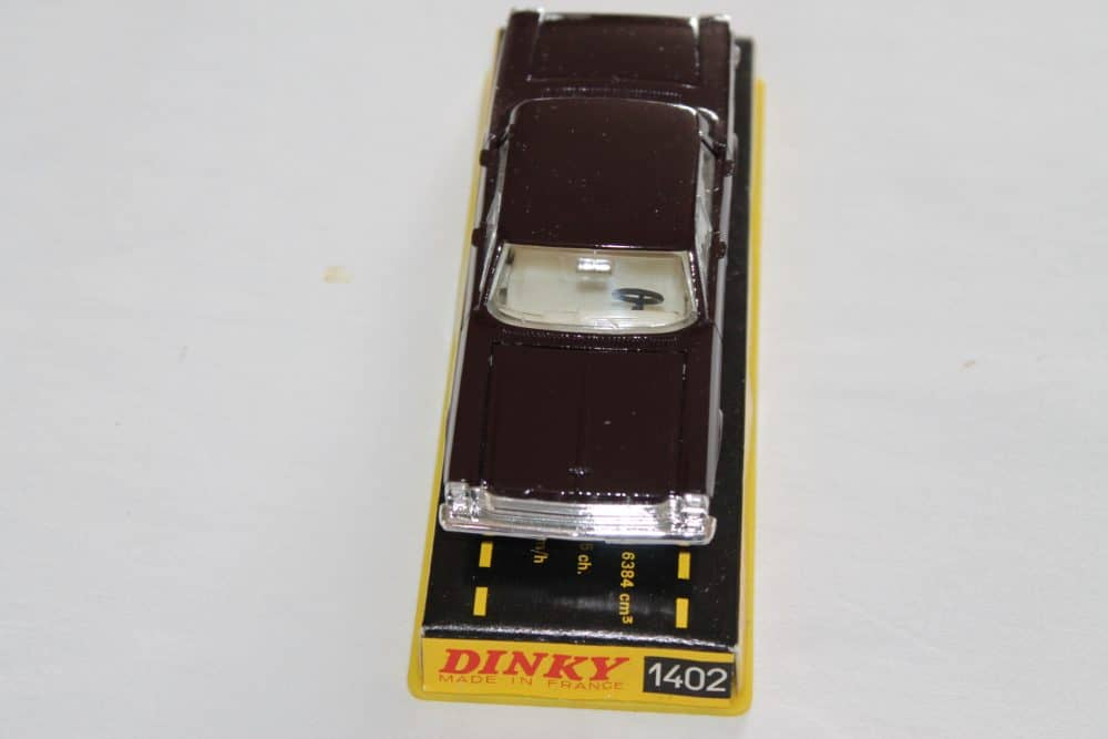 French Dinky Toys 1402 Ford Galaxie Metallic Deep Plum-front