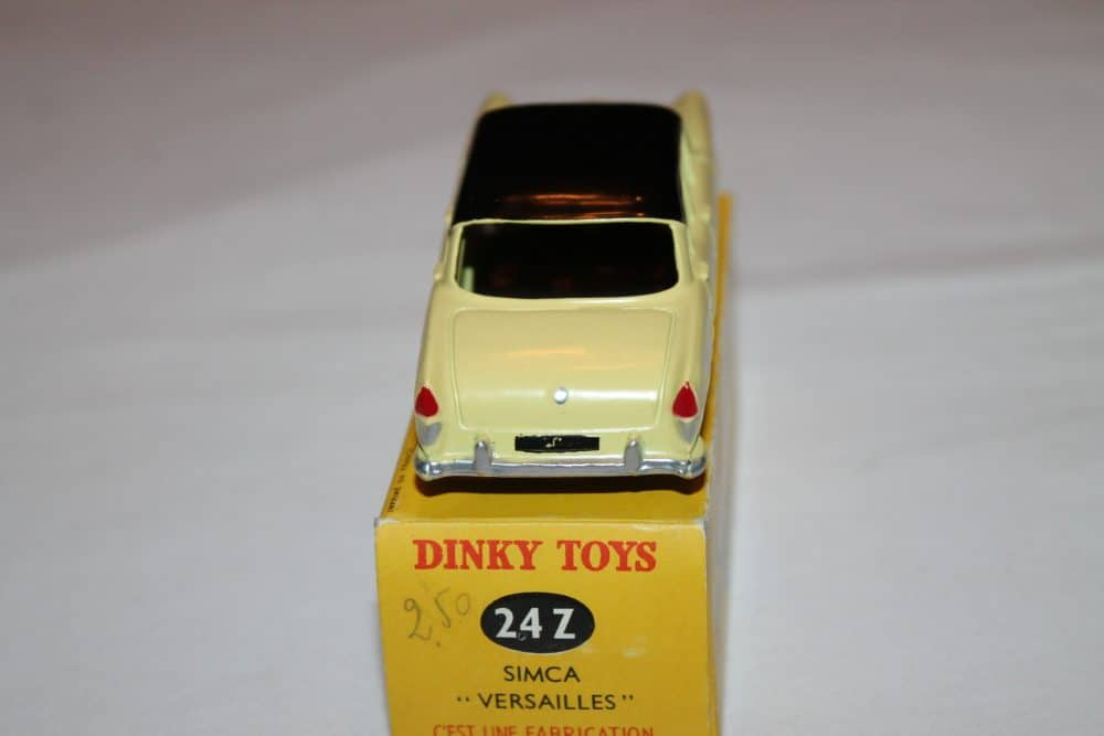 French Dinky Toys 024z Simca Versailles-back