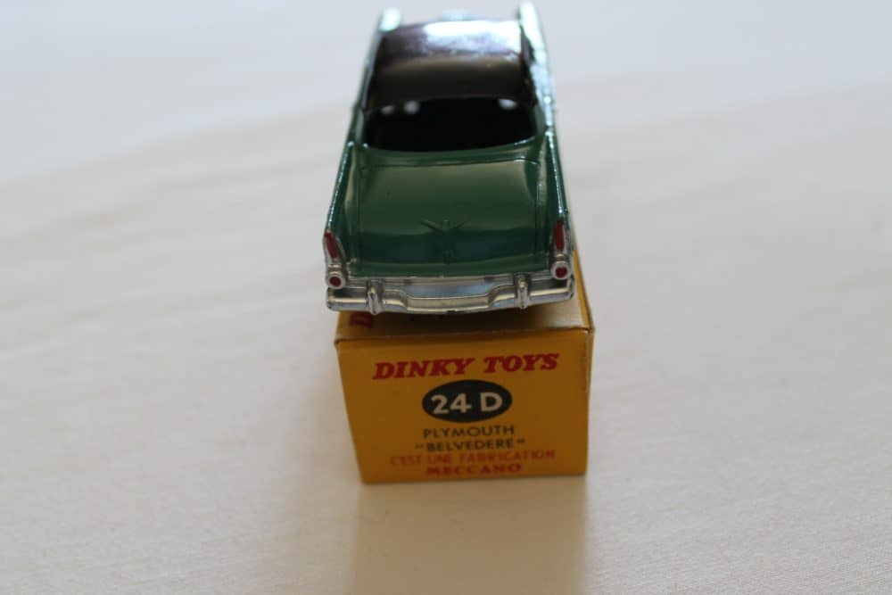 French Dinky Toys 024D Plymouth Belvedere-back