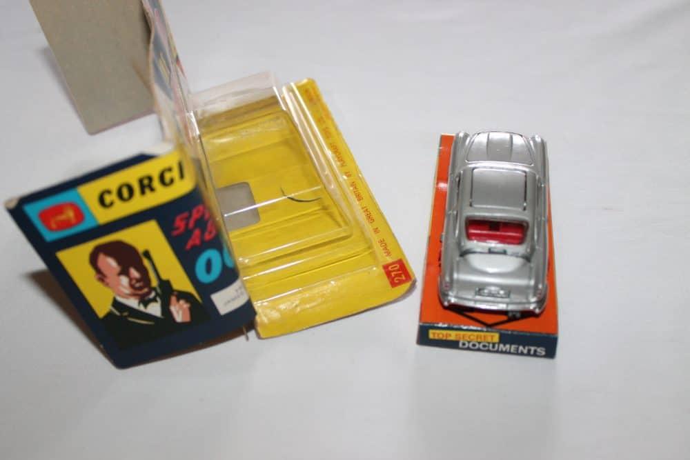 Corgi Toys 270 Silver James Bond Aston Martin 1st Issue Winged Box-back