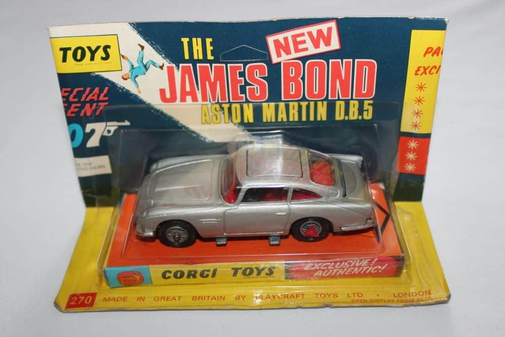 Corgi Toys 270 Silver James Bond Aston Martin 1st Issue Winged Box
