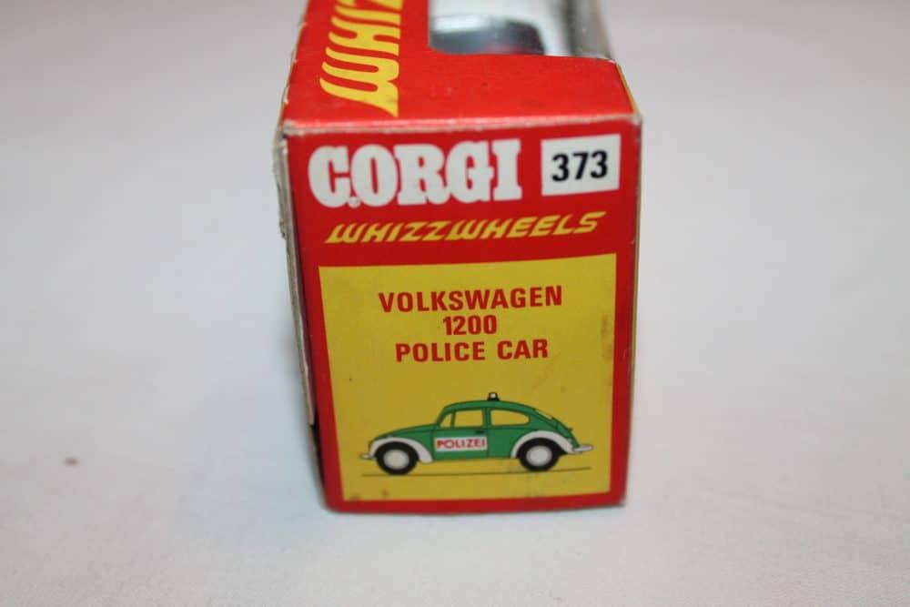 Corgi Toys 373 Volkswagen 1200 Police Car-boxend