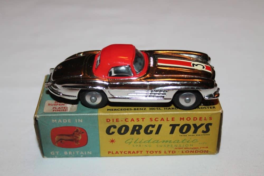 Corgi Toys 304S Mercedes Benz 300SL Hardtop Roadster-side