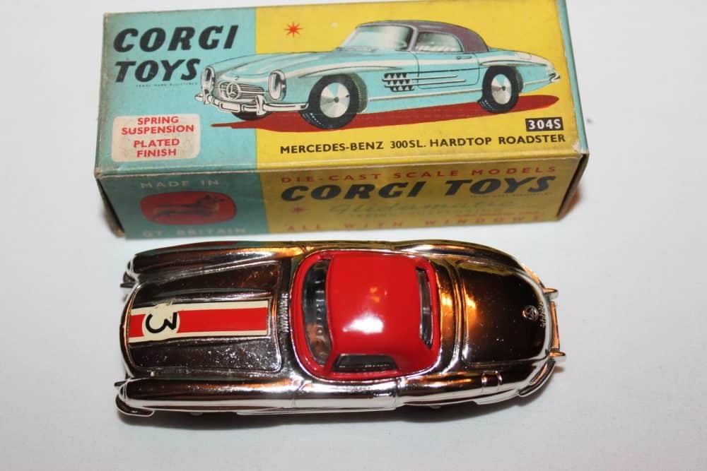 Corgi Toys 304S Mercedes Benz 300SL Hardtop Roadster-top