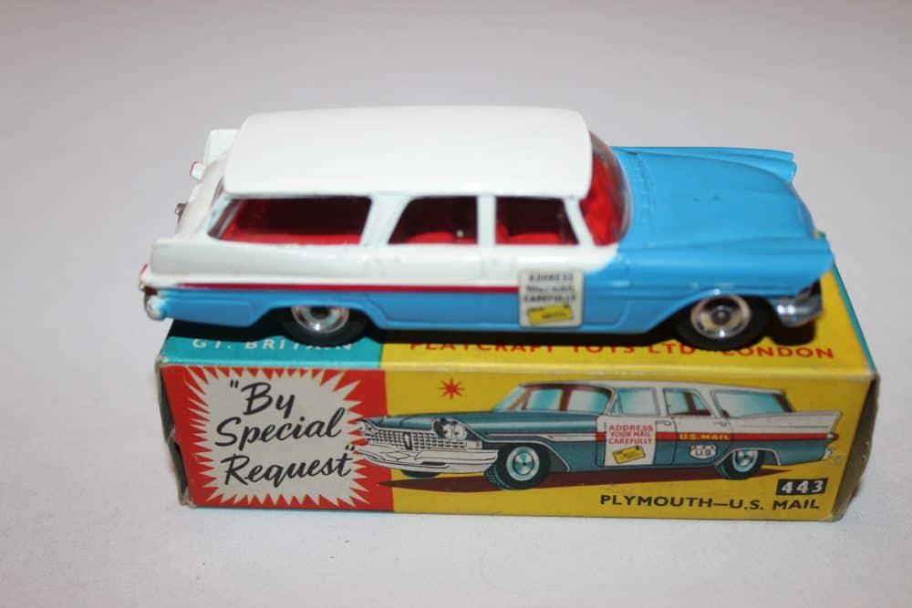 Corgi Toys 443 Plymouth-U.S. Mail Car-side