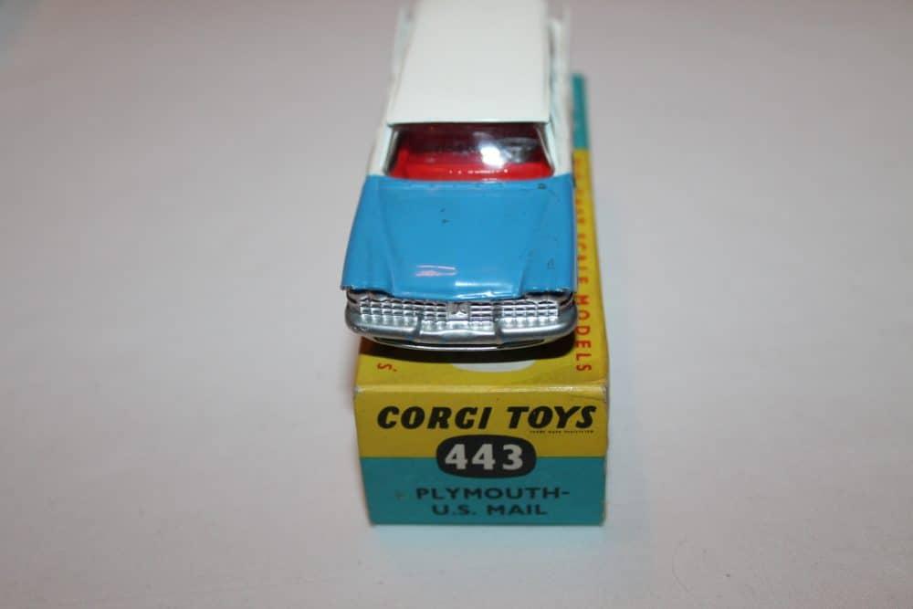 Corgi Toys 443 Plymouth-U.S. Mail Car-front