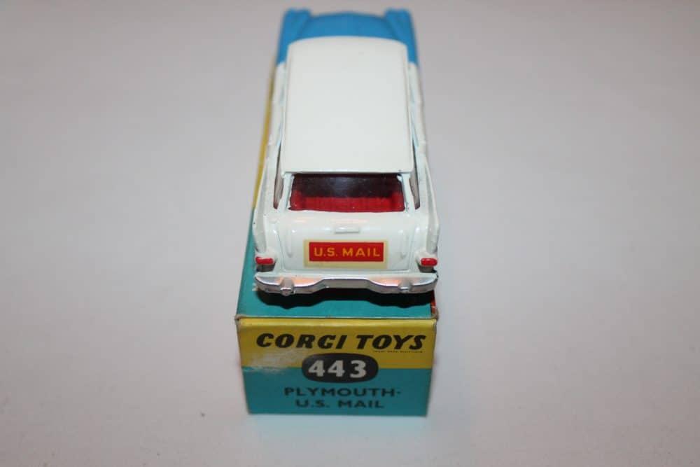 Corgi Toys 443 Plymouth-U.S. Mail Car-back