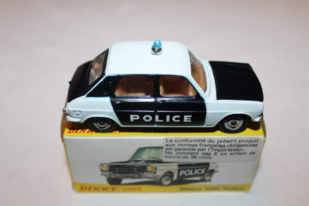 French Dinky Toys 1450 Simca 1100 Police-side