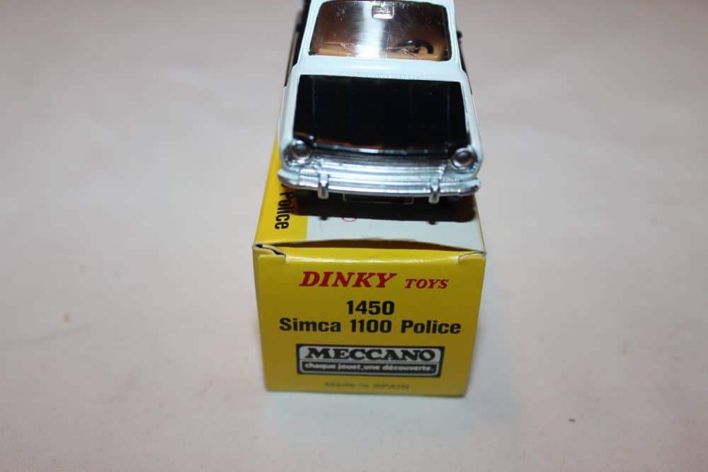 French Dinky Toys 1450 Simca 1100 Police-front
