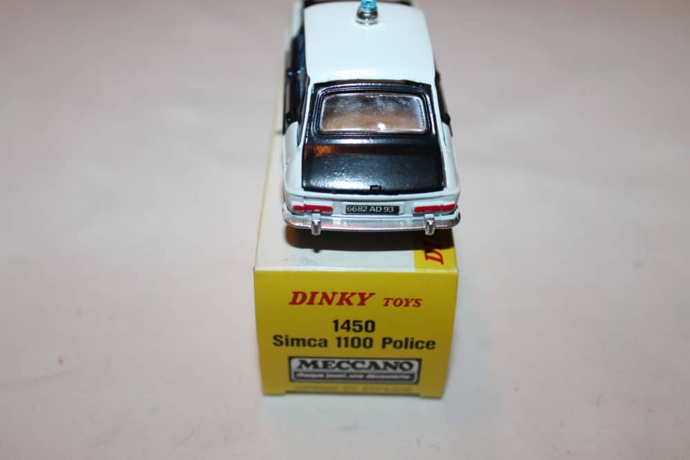French Dinky Toys 1450 Simca 1100 Police-back