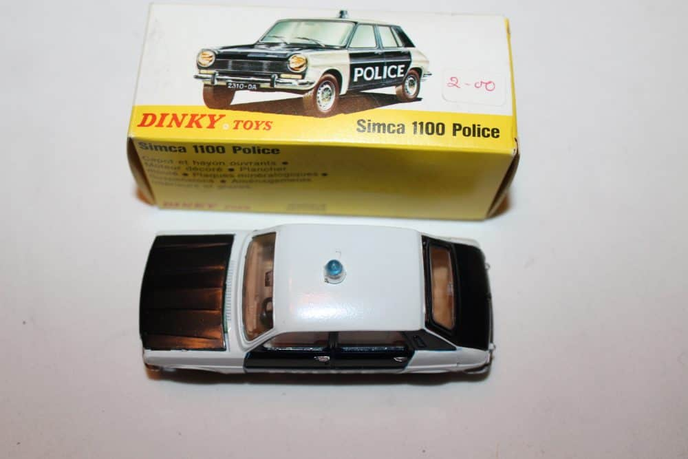 French Dinky Toys 1450 Simca 1100 Police-top