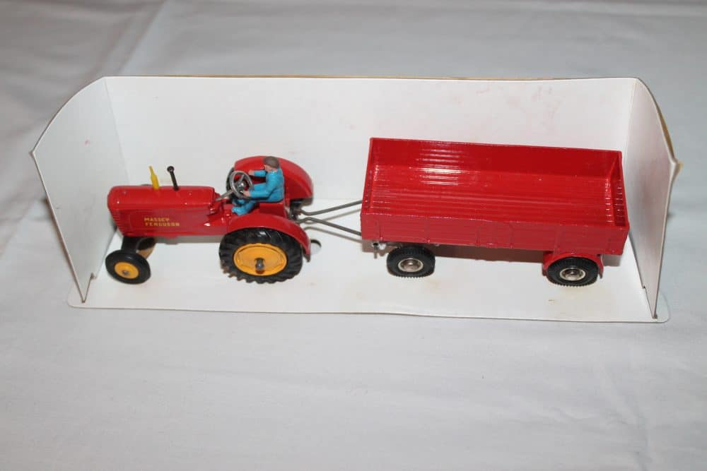Dinky Toys 399 Farm Tractor & Trailer-side