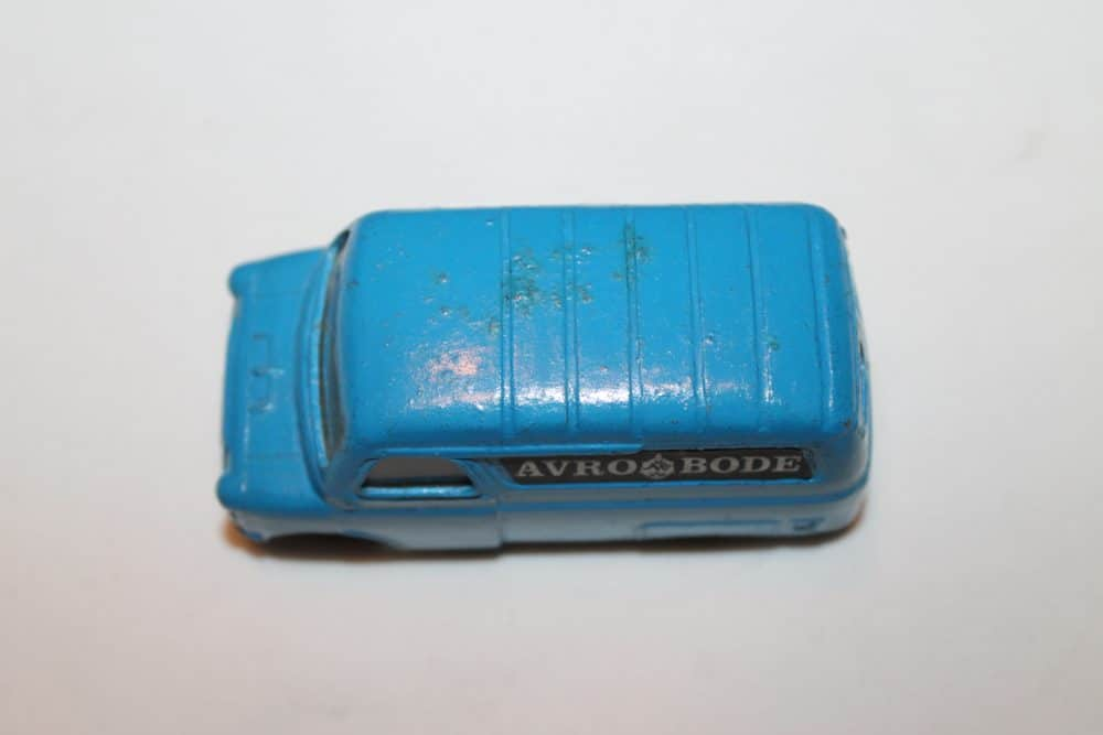 Corgi Toys 421 Dutch Promotional 'Avro Bode' Van-top