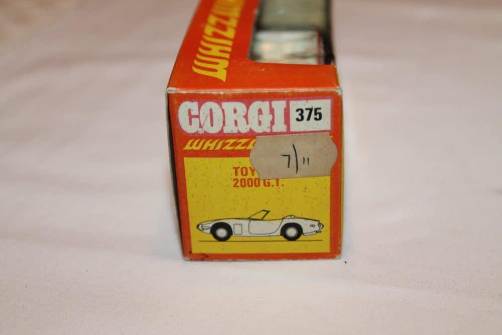 Corgi Toys 375 Toyota 2000 GT-box-end