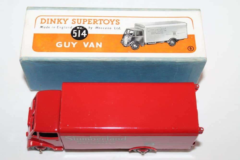 Dinky Toys 514 Guy Slumberland Van-top