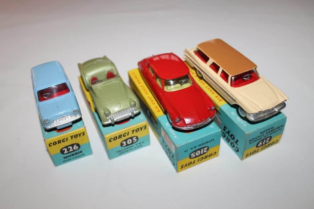 Corgi Toys No 1B Gift Set-carsfront