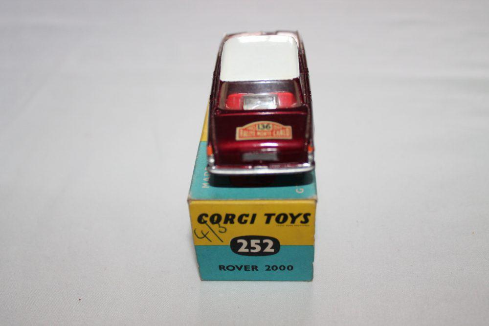Corgi Toys 322 Rover 2000 1965 Monte Carlo Winners-back