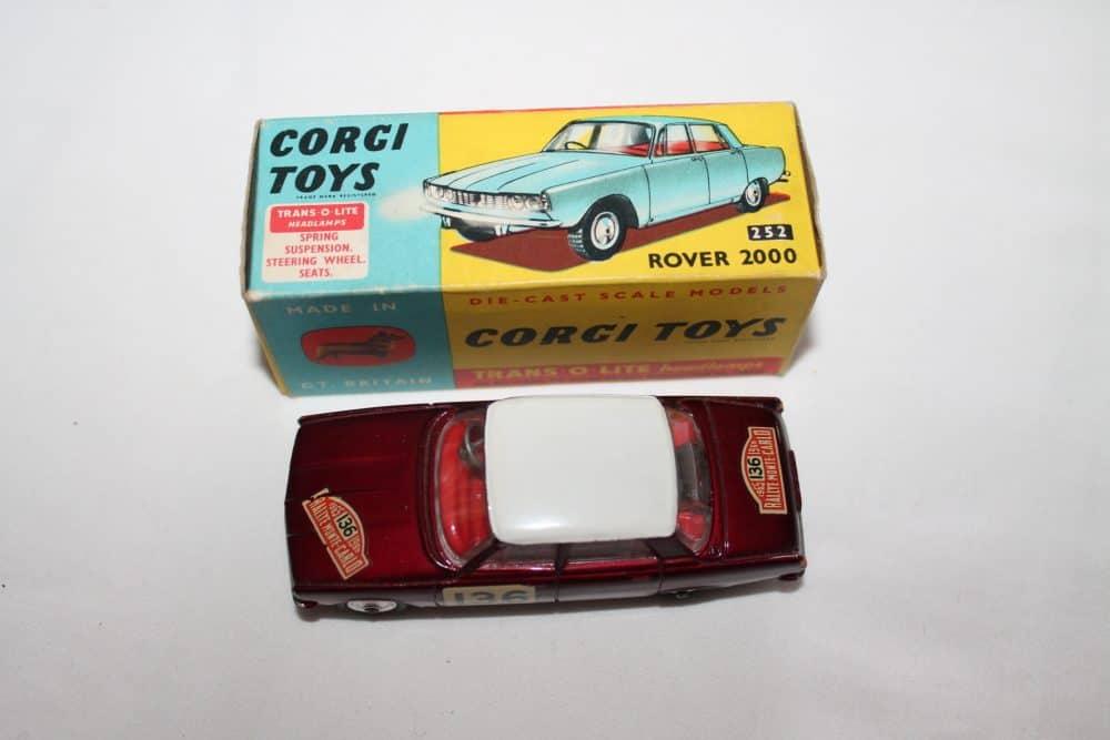 Corgi Toys 322 Rover 2000 1965 Monte Carlo Winners-top