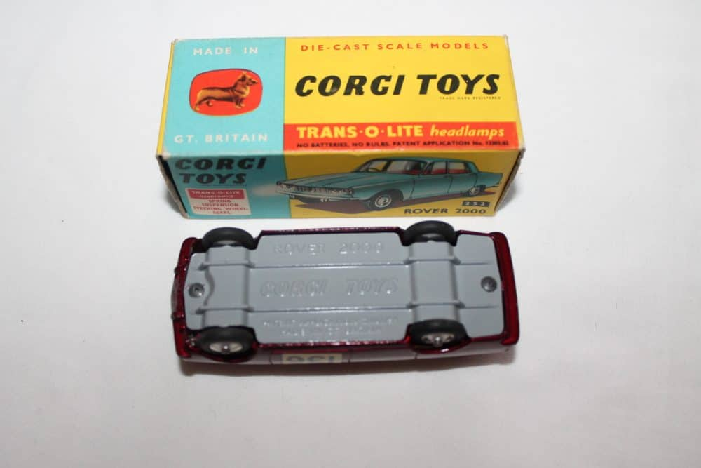 Corgi Toys 322 Rover 2000 1965 Monte Carlo Winners-base