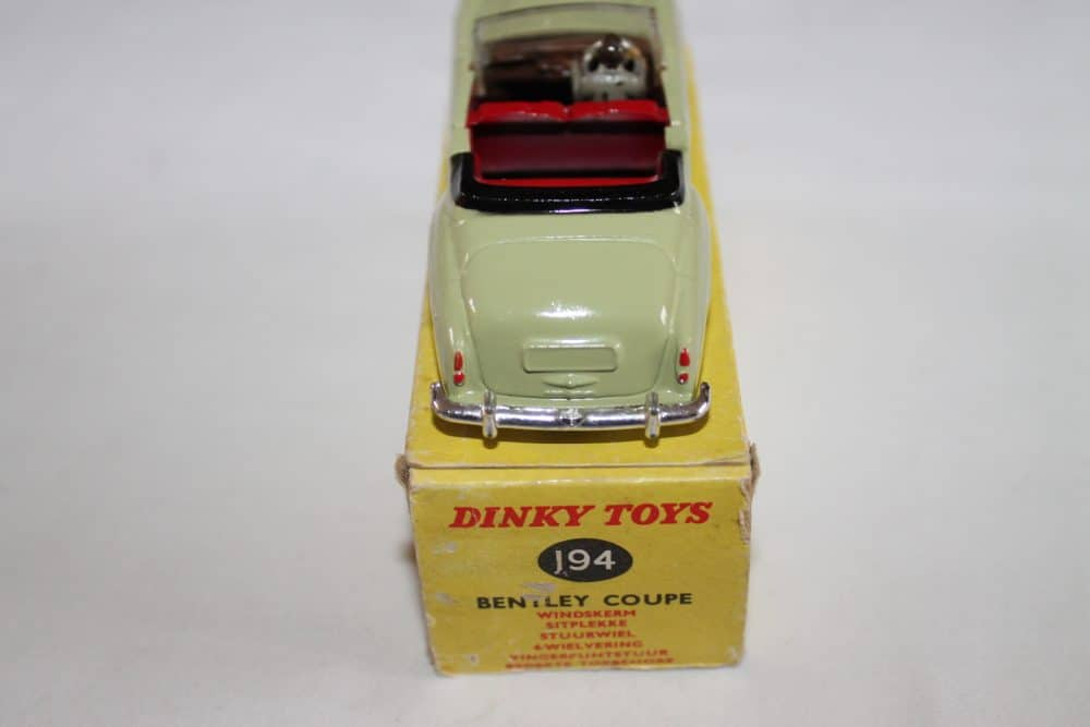 Dinky Toys 194 Bentley Coupe South African version-back