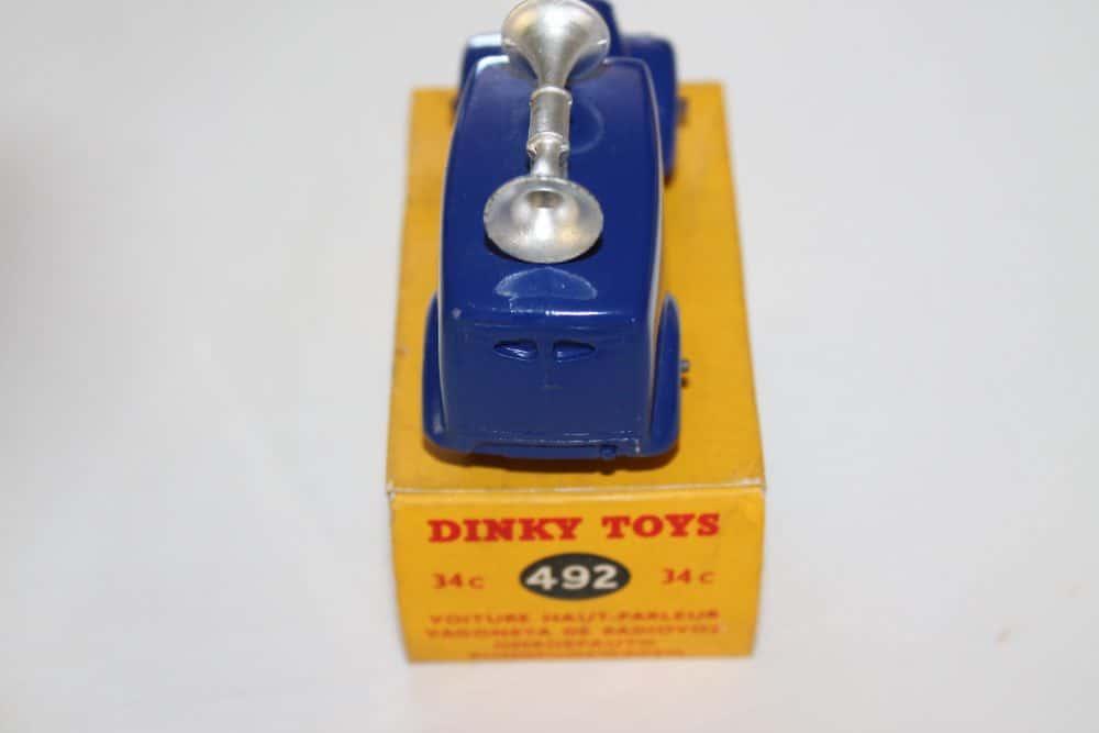 Dinky Toys 34C/492 Loud Speaker Van-back