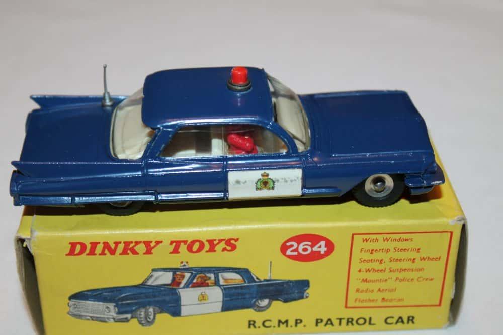 Dinky Toys 264 R.C.M.P. Cadillac Patrol Car-side