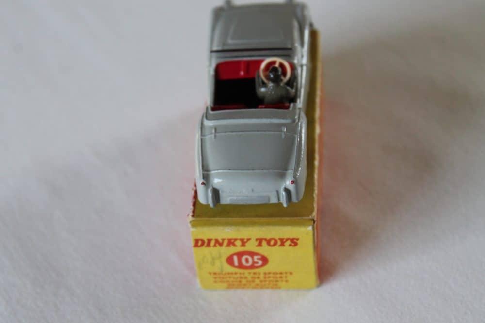 Dinky Toys 105 Triumph T.R.2 Tourer-back