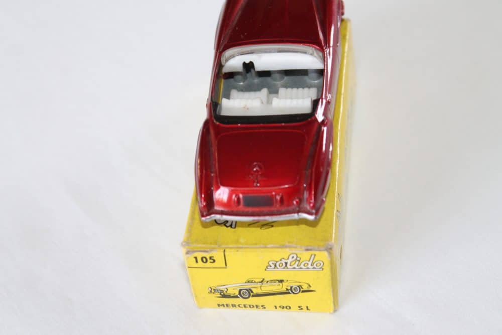 Solido Toys 105 Mercedes Benz 190 SL-back