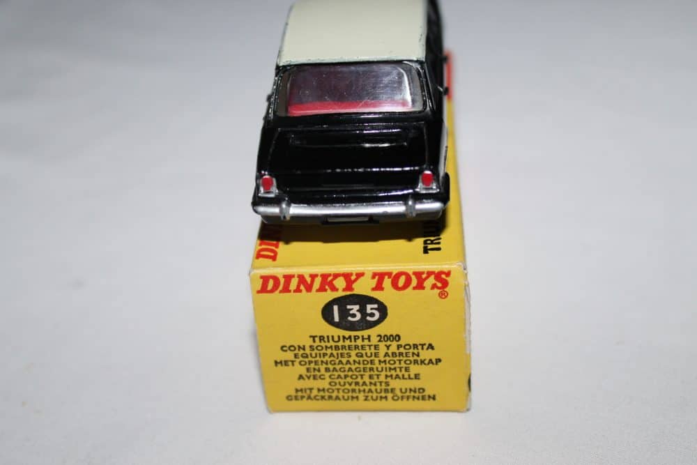 Dinky Toys 135 Triumph 2000 Rare Promotional-back