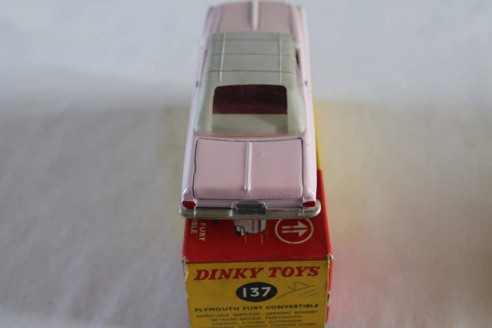 Dinky Toys 137 Plymouth Fury Convertible-back