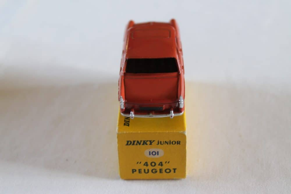 French Dinky Toys Junior 101 Peugeot 404-back