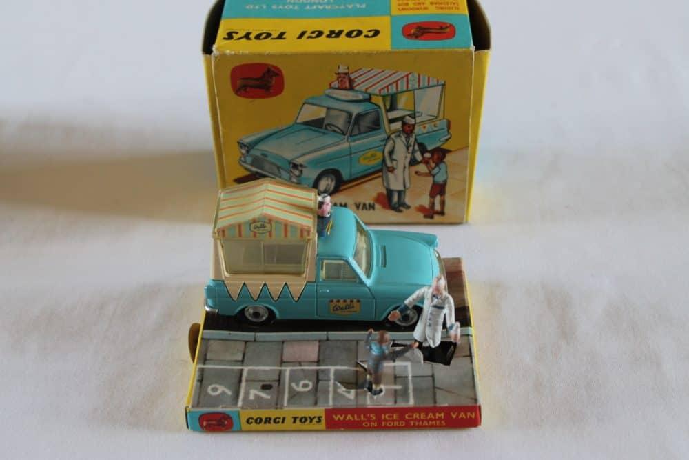 Corgi Toys 447 Ford Thames Wall's Ice Cream Van-side