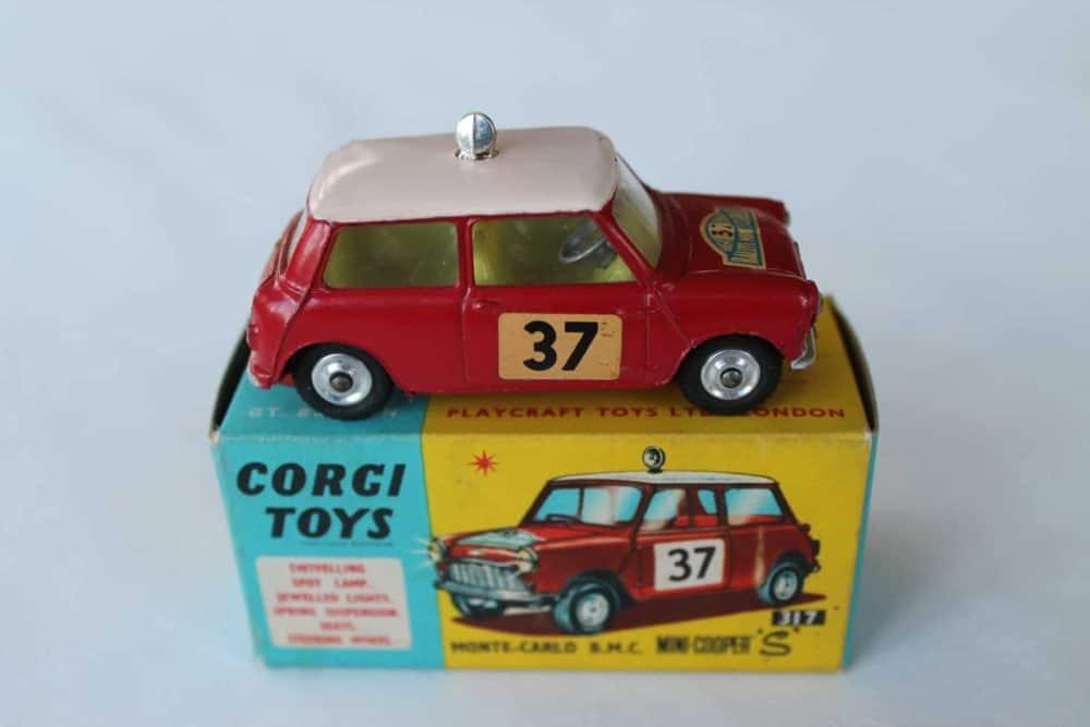 Corgi Toys 317 Monte Carlo B.M.C. Mini Cooper S-side