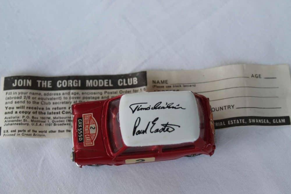 Corgi Toys 317 Monte Carlo B.M.C. Mini Cooper S-top