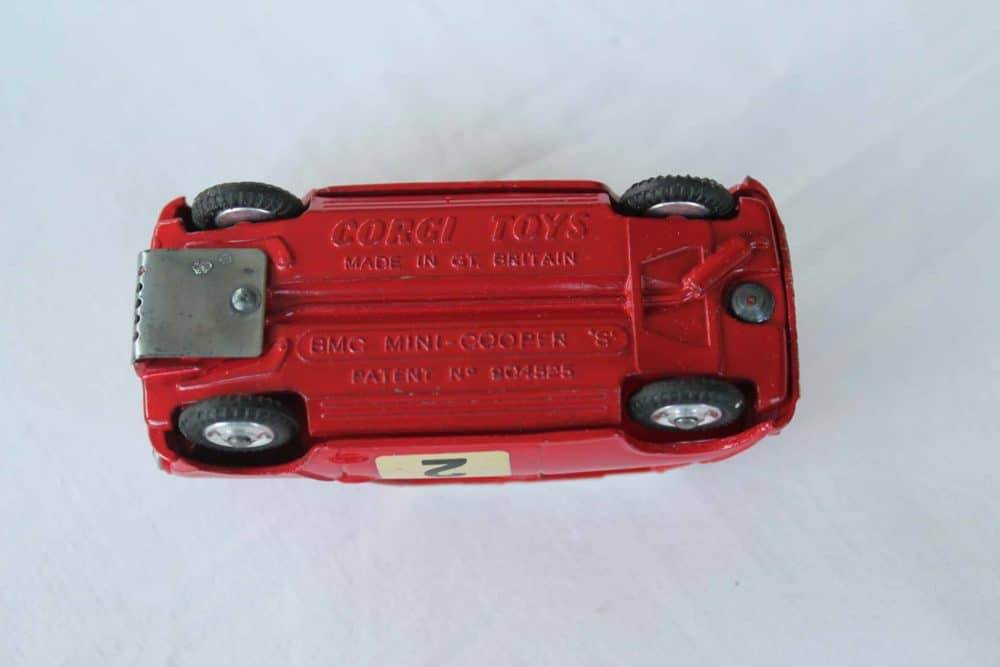 Corgi Toys 317 Monte Carlo B.M.C. Mini Cooper S-base