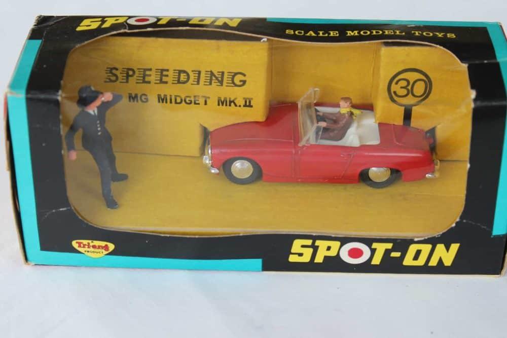 Spot-On Toys 281 Red MG MK 2 (Speeding)