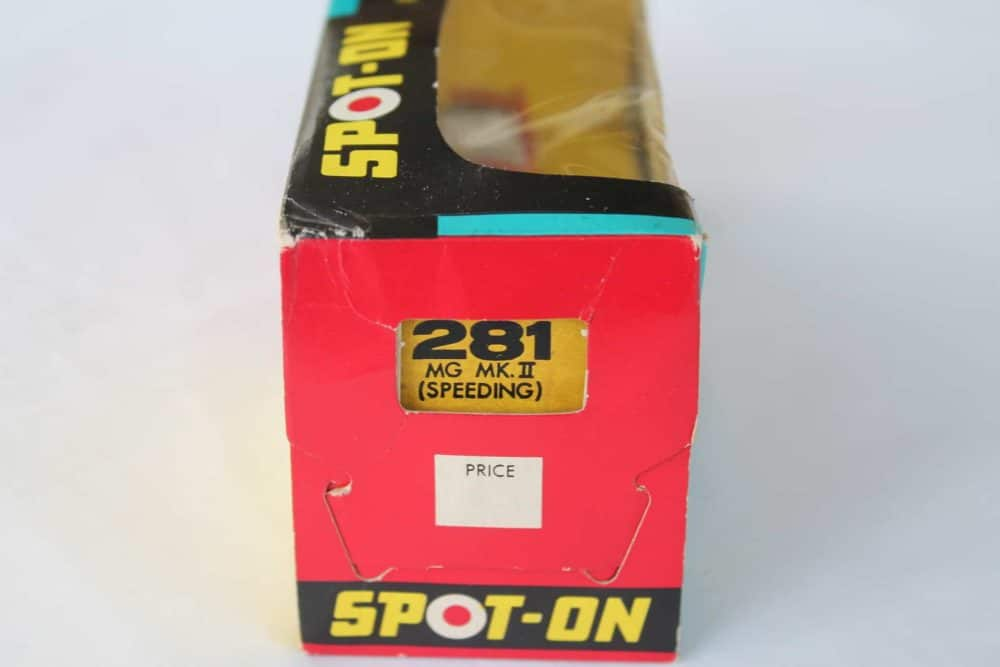 Spot-On Toys 281 Red MG MK 2 (Speeding)-boxend