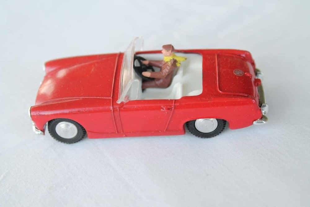 Spot-On Toys 281 Red MG MK 2 (Speeding)-left