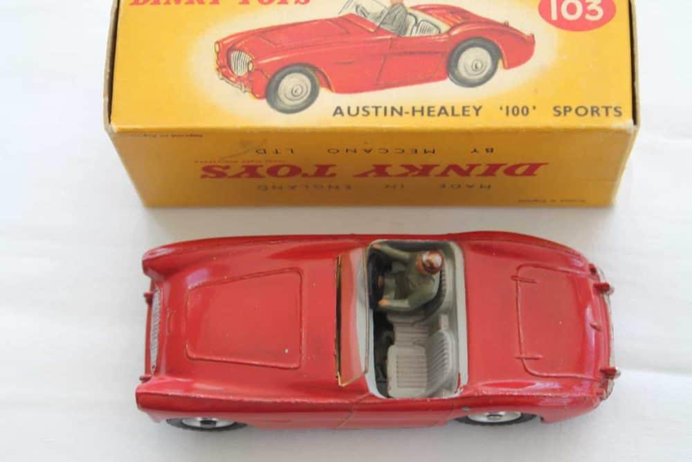 Dinky Toys 103 Austin Healey Tourer-top