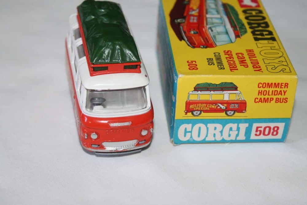 Corgi Toys 508 Commer Holiday Camp Bus-front