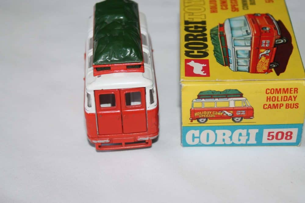 Corgi Toys 508 Commer Holiday Camp Bus-back