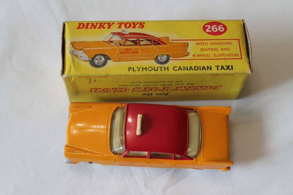 Dinky Toys 266 Plymouth Canadian Taxi-top